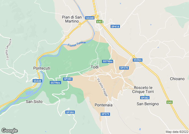 Map for Il Conventaccio, Todi, Umbria, Italy