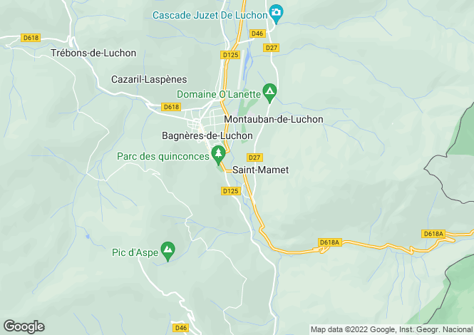 Map for st-mamet, Haute-Garonne, France