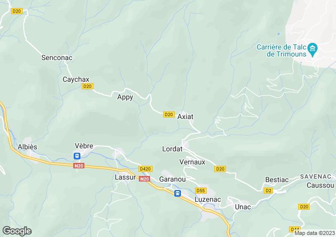 Map for Vernaux, Ariège, Midi-Pyrénées