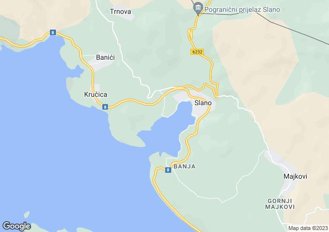 Map for Slano, Dubrovnik-Neretva