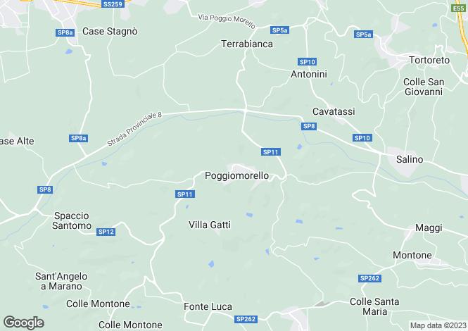 Map for Teramo, Poggio Morello,, Abruzzo, TE64027