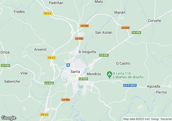 Map for Galicia, Lugo, Sarria