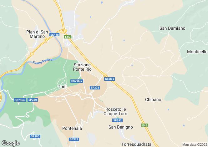 Map for Todi, Perugia, Umbria