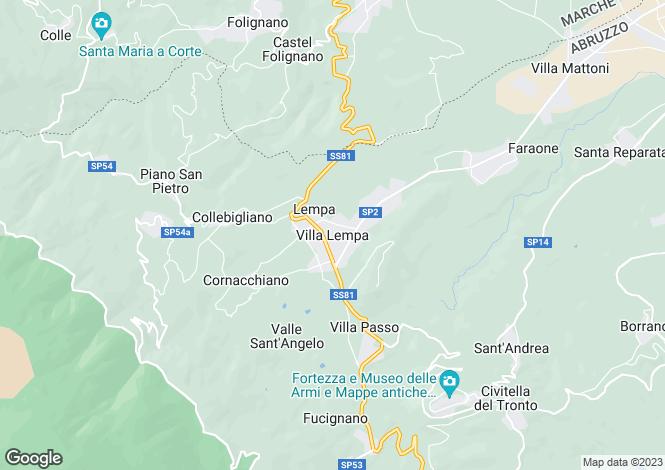 Map for Abruzzo, Teramo, Villa Lempa