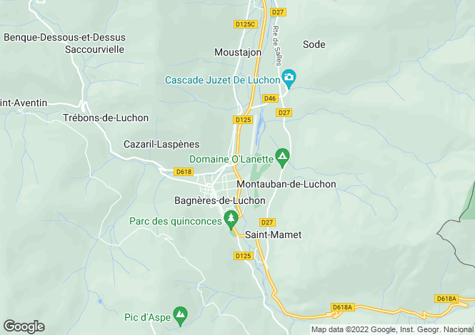 Map for bagneres-de-luchon, Haute-Garonne, France