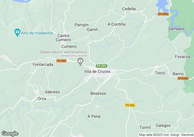 Map for Vila de Cruces, Pontevedra, Galicia