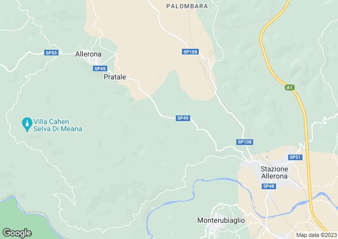 Map for Umbria, Terni, Allerona