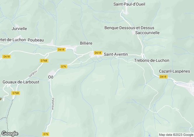 Map for Midi-Pyrénées, Haute-Garonne, Castillon-de-Larboust