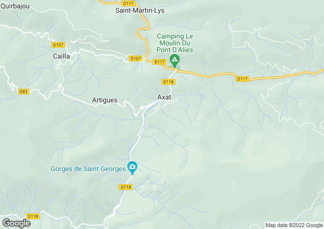 Map for Agence de Quillan