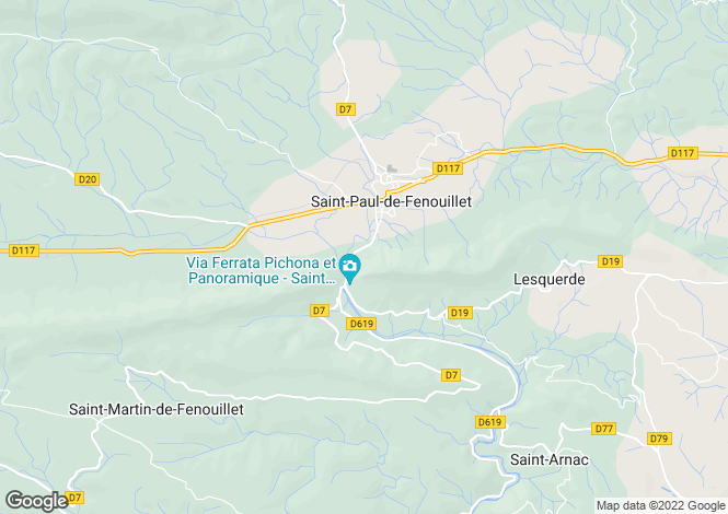 Map for st-paul-de-fenouillet, Pyrénées-Orientales, France