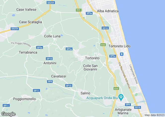 Map for Abruzzo, Teramo, Tortoreto