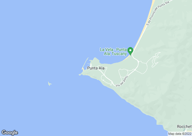 Map for Villa Punta Ala, Castiglione Della Pescaia, Maremma, Italy