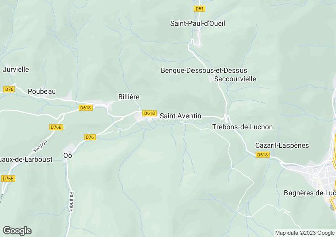 Map for Midi-Pyrénées, Haute-Garonne, Bagnères-de-Luchon