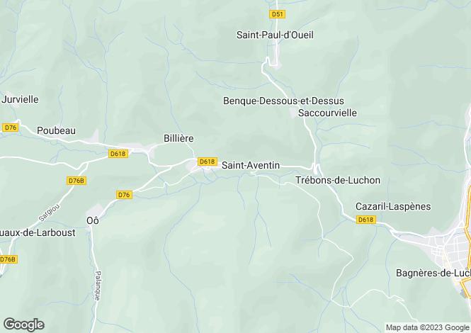 Map for Castillon-de-Larboust, Haute-Garonne, Midi-Pyrénées