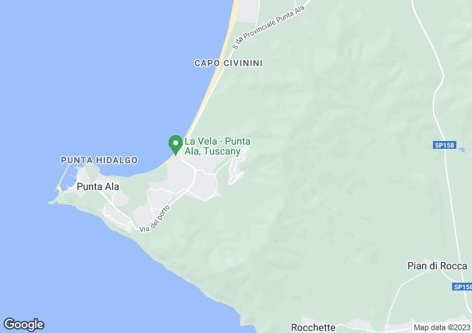 Map for Tuscany, Grosseto, Castiglione della Pescaia