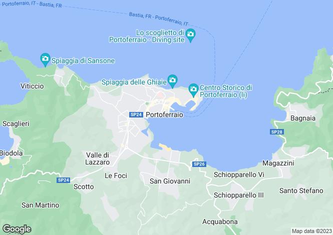 Map for Tuscany, Isola D'elba, Portoferraio