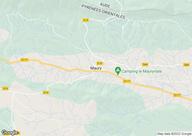 Map for Maury, Languedoc-Roussillon, 66460, France