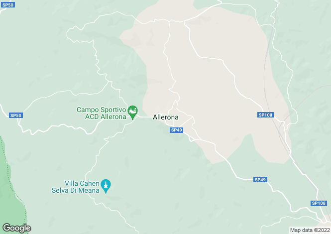 Map for Allerona, Umbria, Italy