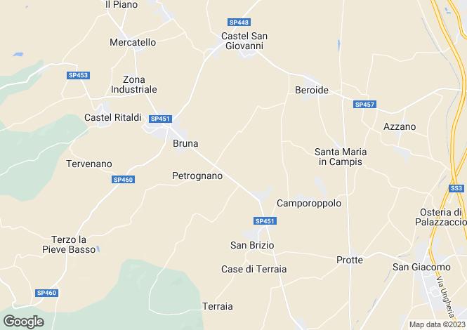 Map for Spoleto, Perugia, Umbria