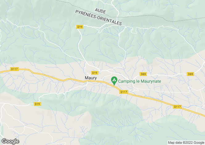 Map for Maury, Pyrenees-Orientales, 66460, France
