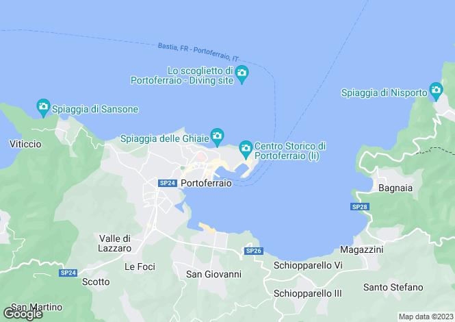 Map for Portoferraio, Livorno, Tuscany
