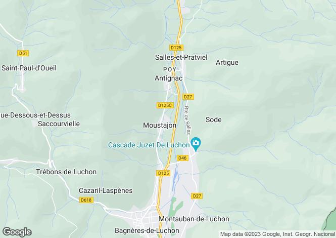 Map for moustajon, Haute-Garonne, France