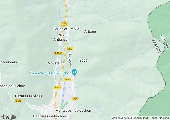 Map for juzet-de-luchon, Haute-Garonne, France