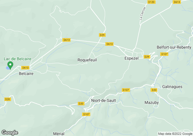 Map for roquefeuil, Aude, France