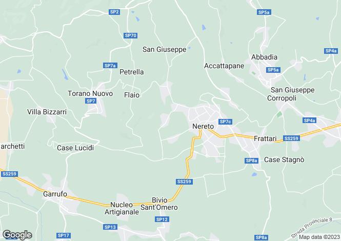 Map for Abruzzo, Teramo, Nereto