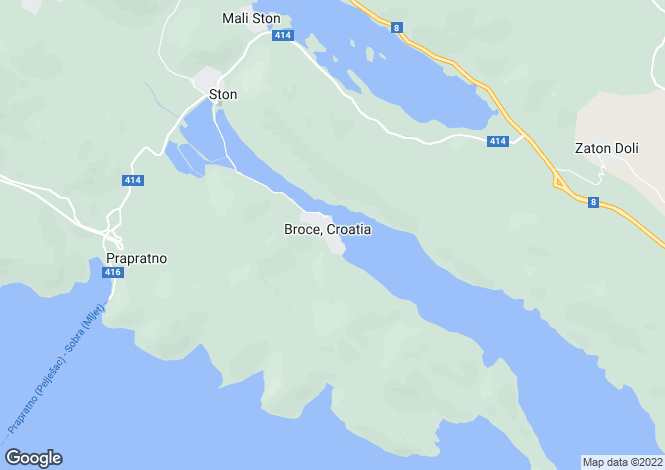 Map for Broce, Peljesac, Croatia