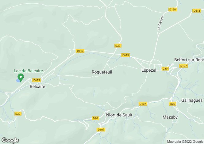 Map for Roquefeuil, Languedoc-Roussillon, 11340, France