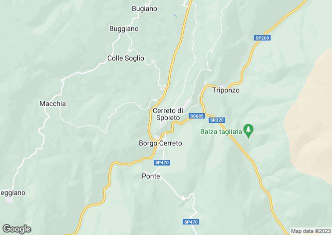 Map for Italy - Umbria, Perugia, Cerreto di Spoleto