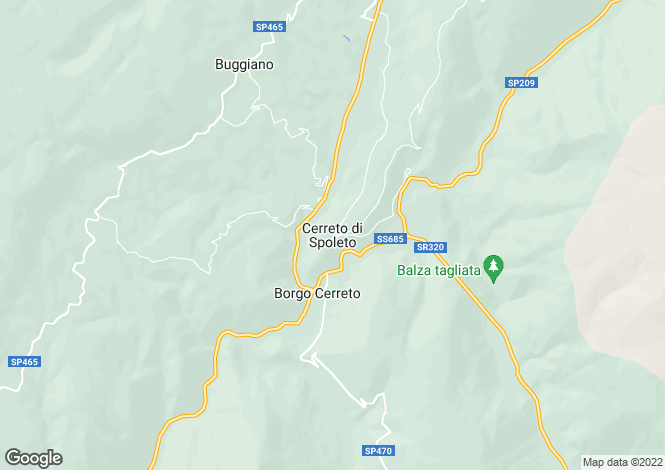 Map for Italy - Umbria, Perugia, Cerreto di Spoleto