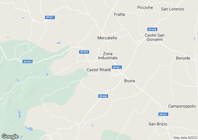 Map for Italy - Umbria, Perugia, Castèl Ritaldi