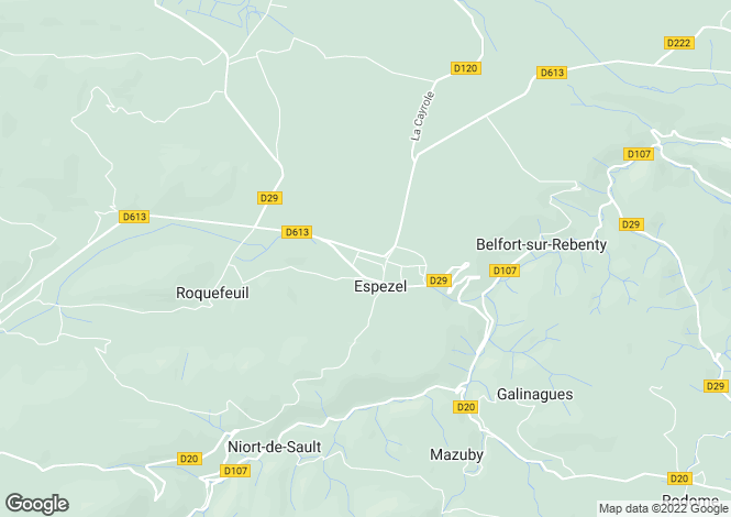 Map for espezel, Aude, France