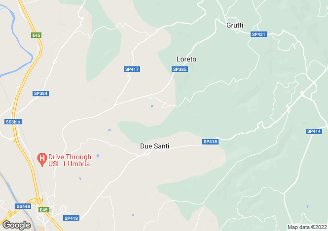 Map for Todi, Perugia, Umbria