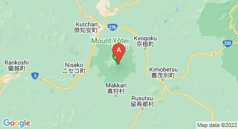 map of Mount Yōtei (Japan)
