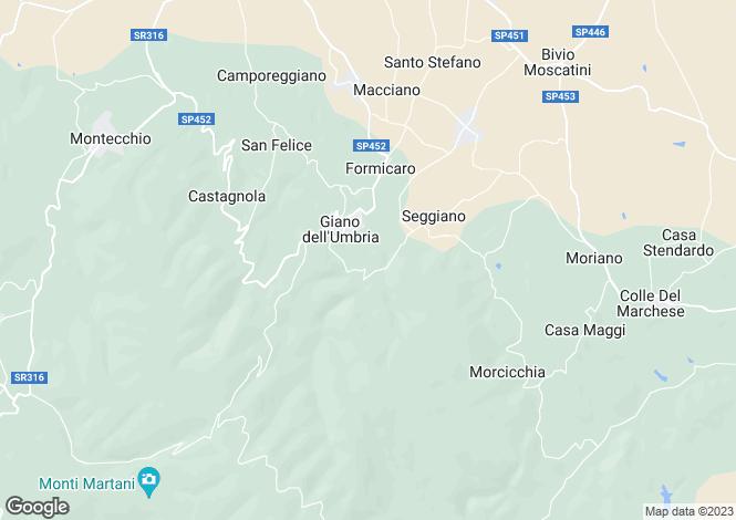 Map for Umbria, Perugia, Giano dell`Umbria