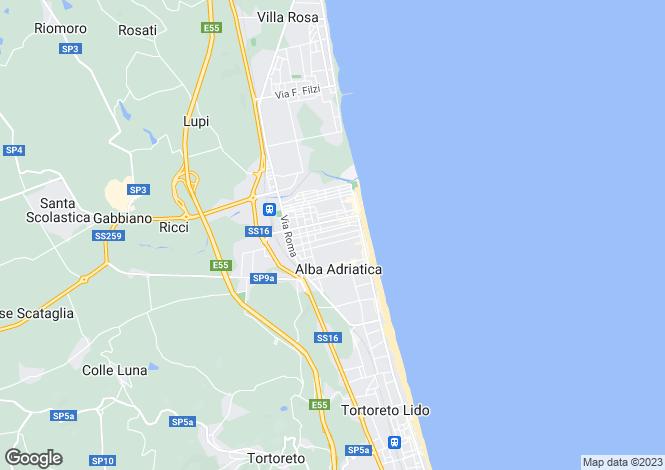 Map for Ascoli Piceno Alba Adriatica