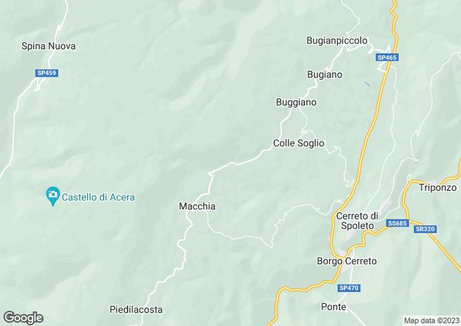 Map for Umbria, Perugia, Cerreto di Spoleto