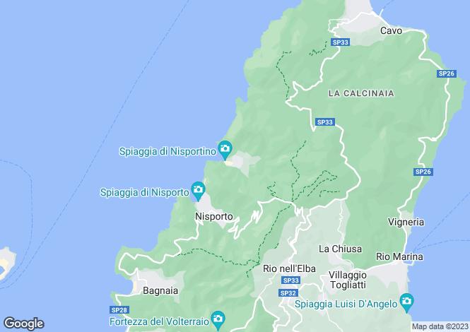 Map for Tuscany, Isola D'elba, Rio nell`Elba