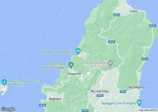 Map for Italy - Tuscany, Isola D'elba, Rio nell`Elba