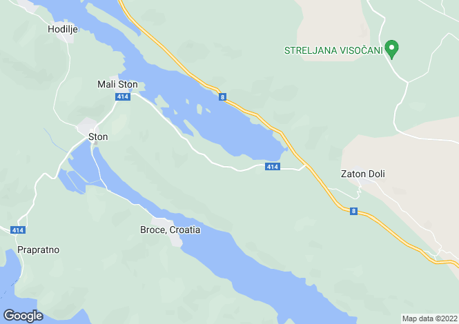 Map for Dubrovnik-Neretva, Ston