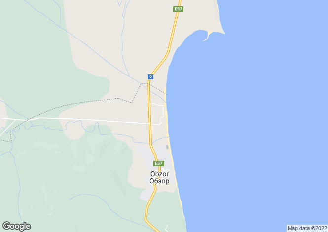 Map for Obzor, Burgas