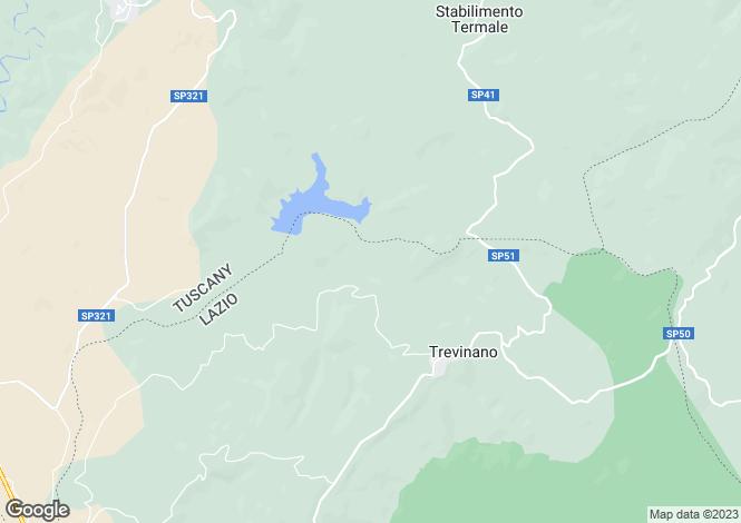 Map for Acquapendente, Viterbo, Lazio