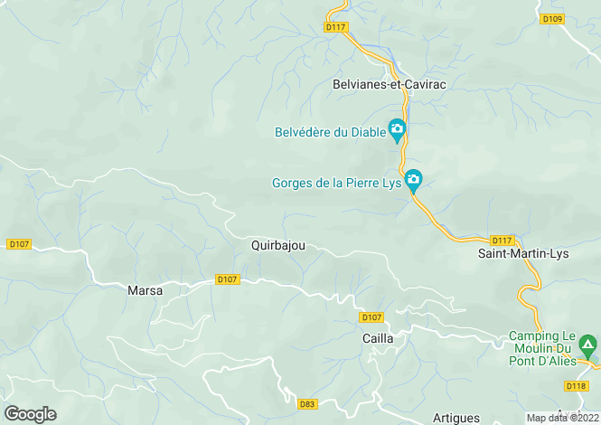 Map for LANGUEDOC-ROUSSILLON, AUDE, EXCLUSIF SECTEUR QUILLAN