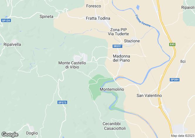 Map for Umbria, Perugia, Monte Castello di Vibio