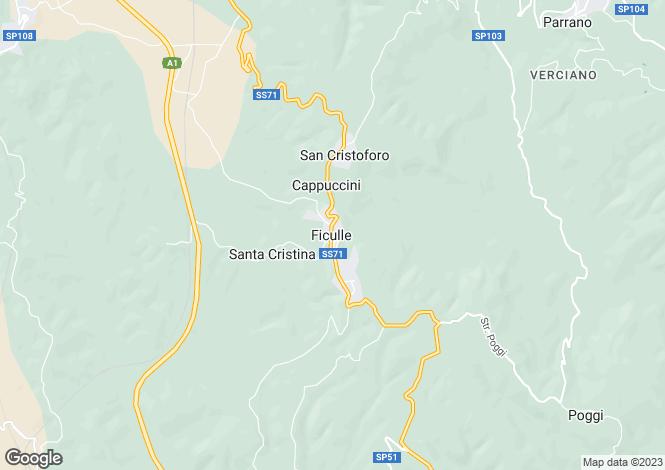 Map for via delle fontane, Ficulle, Umbria