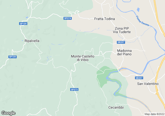 Map for Umbria, Perugia, Monte Castello di Vibio