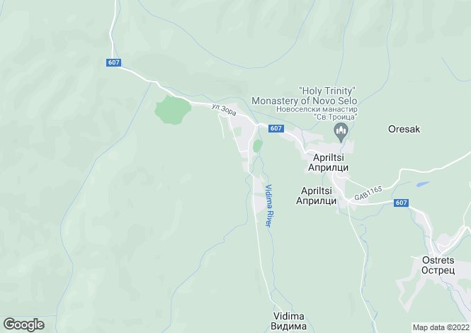 Map for Apriltsi, Lovech